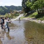親子渓流釣り教室 戸川 投網