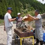 親子渓流釣り教室戸川 あまごの塩焼き