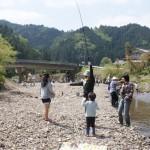 親子渓流釣り教室 戸川